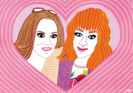Chloe and Anita Illustrated Selfie