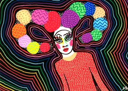 Jackie Jervo Illustrated Selfie 2