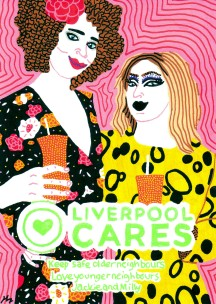 Jackie Liverpool Cares Illustrated Selfie